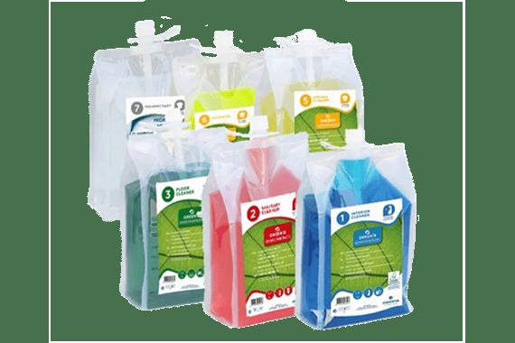 Detergenti ecologici concentrati professionali
